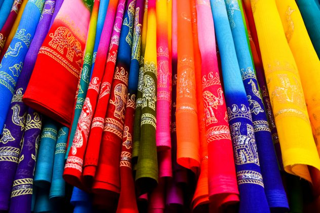 Colorful Saree (Sari) background